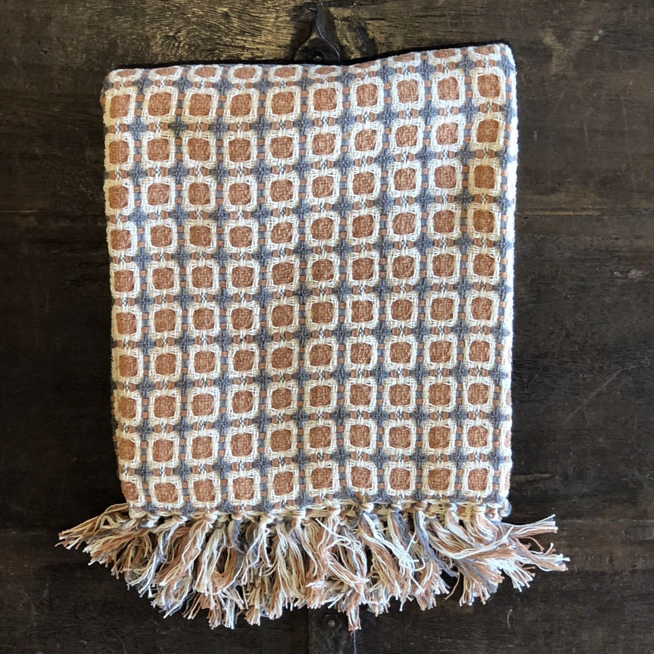 Cotton Embellished Throw Blanket