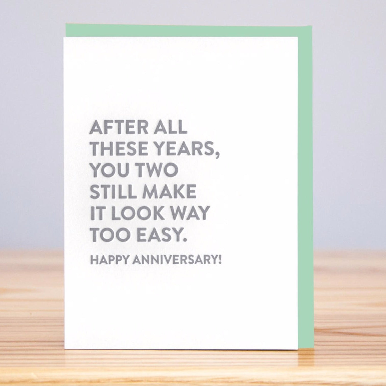 Look Easy Anniversary Card