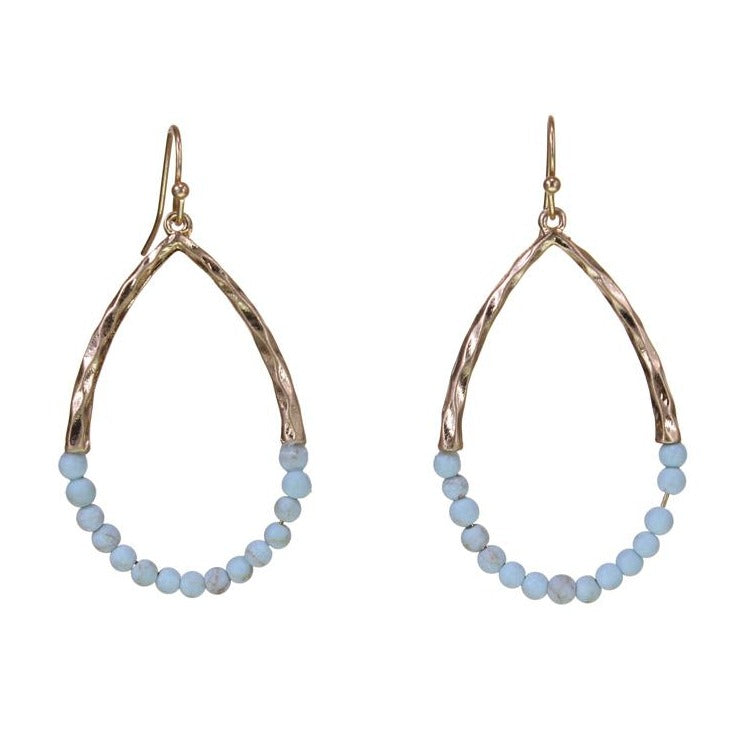 Turquoise Beaded Loop Earring