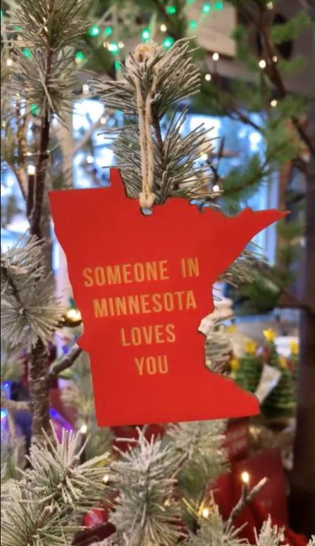 Someone In MN Loves You Red Ornament