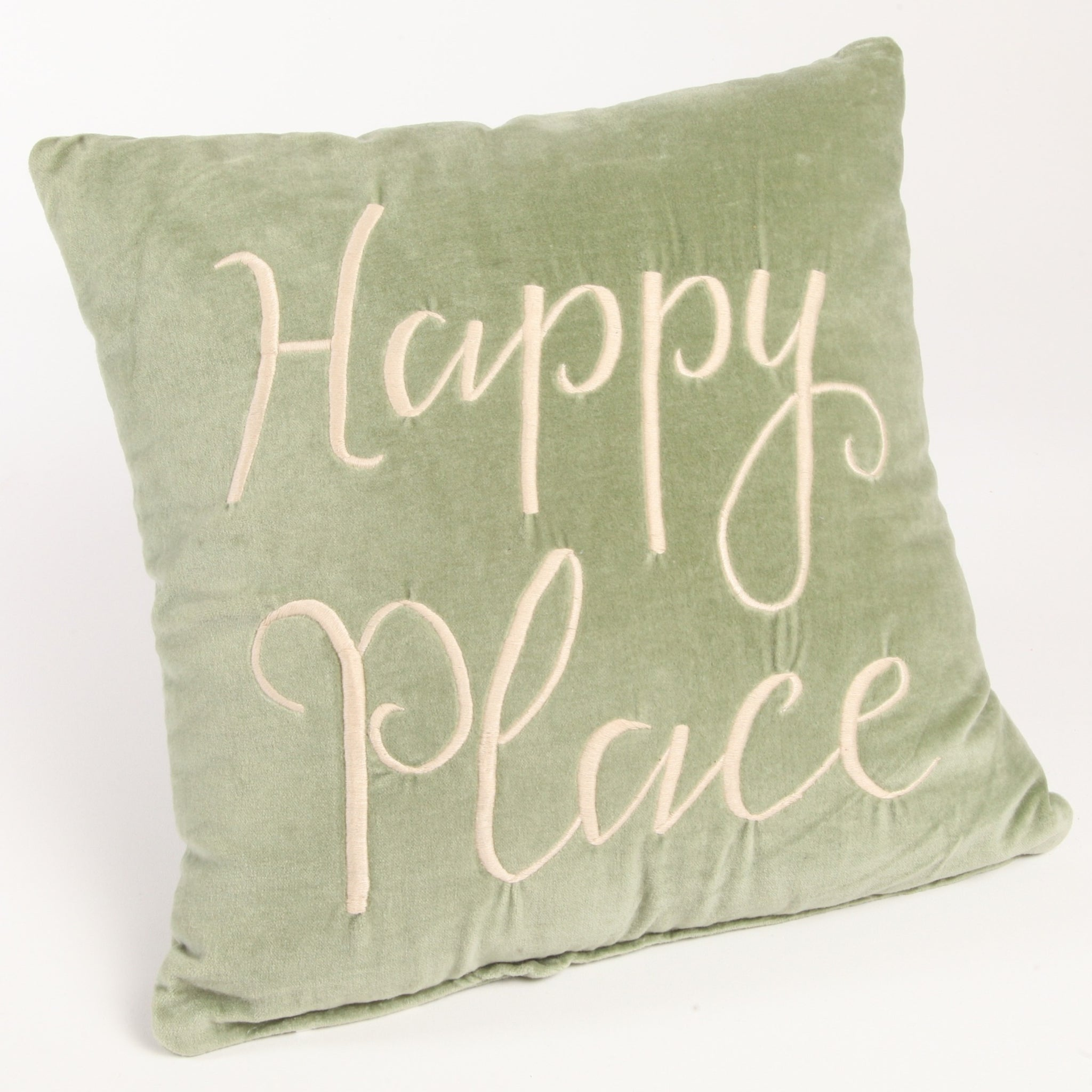 Green Happy Place Pillow