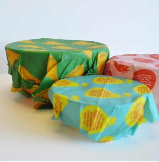 Hip-Hop Beeswax Food Wraps 3 Pack