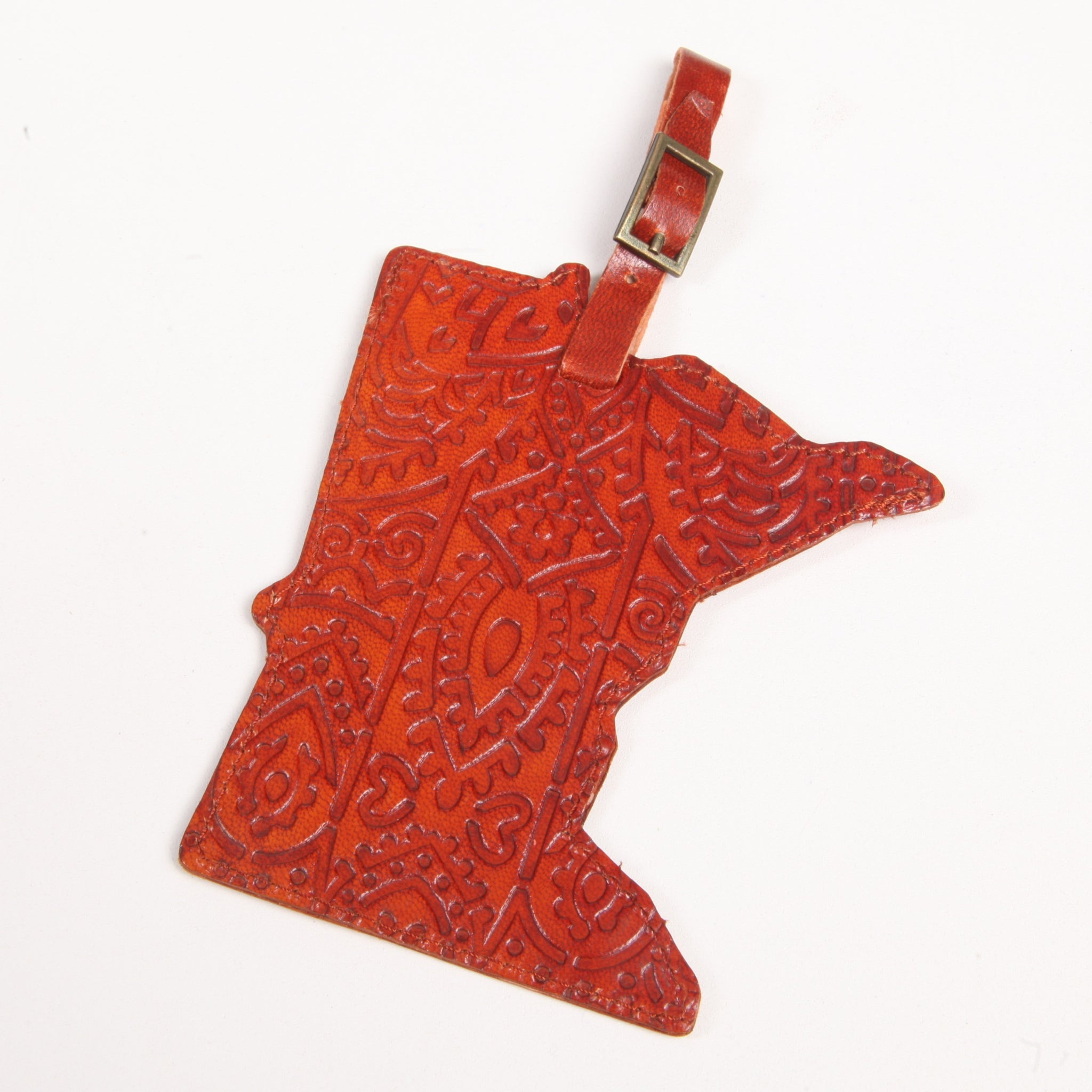 MN Leather Luggage Tag