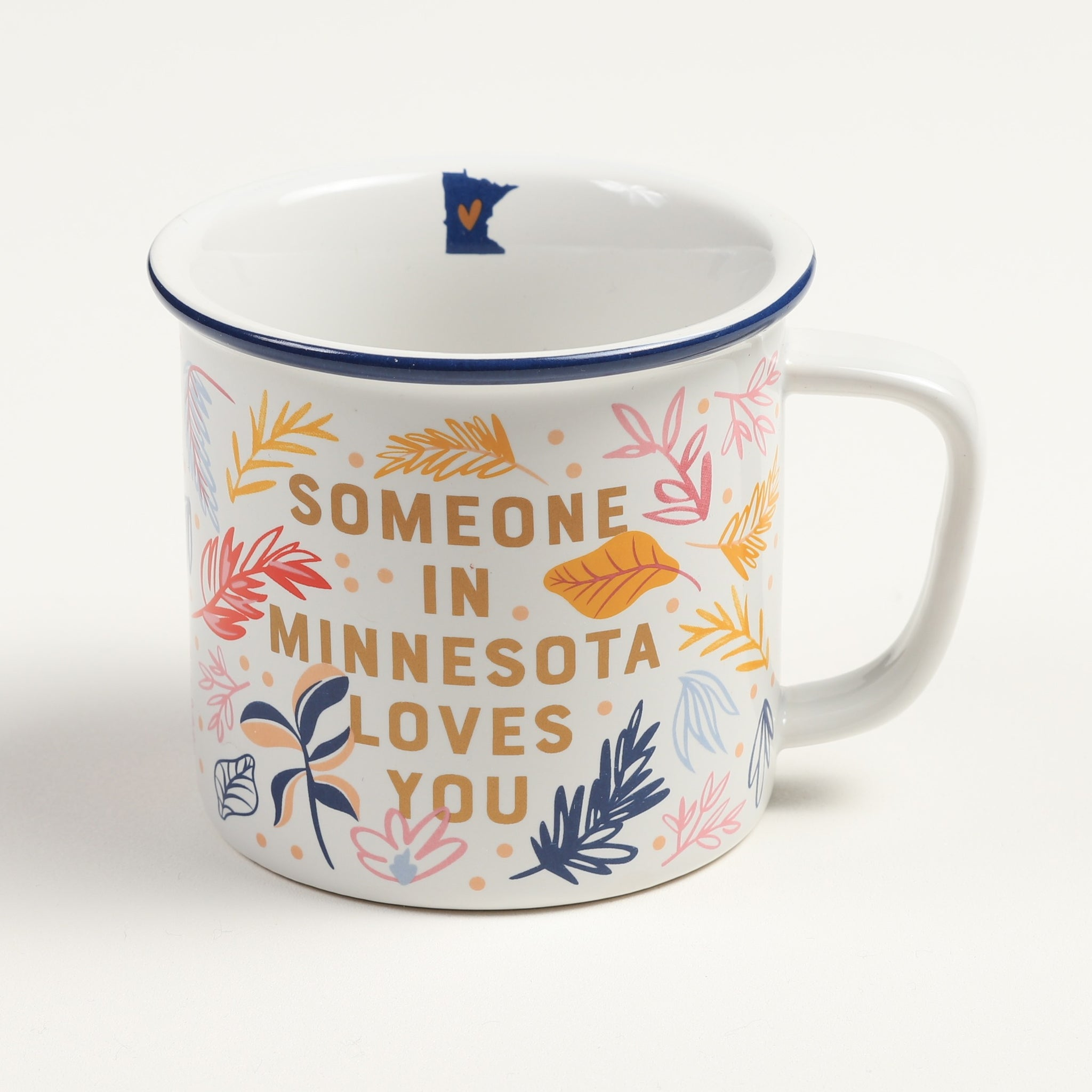 Floral Someone in MN Loves You Mug