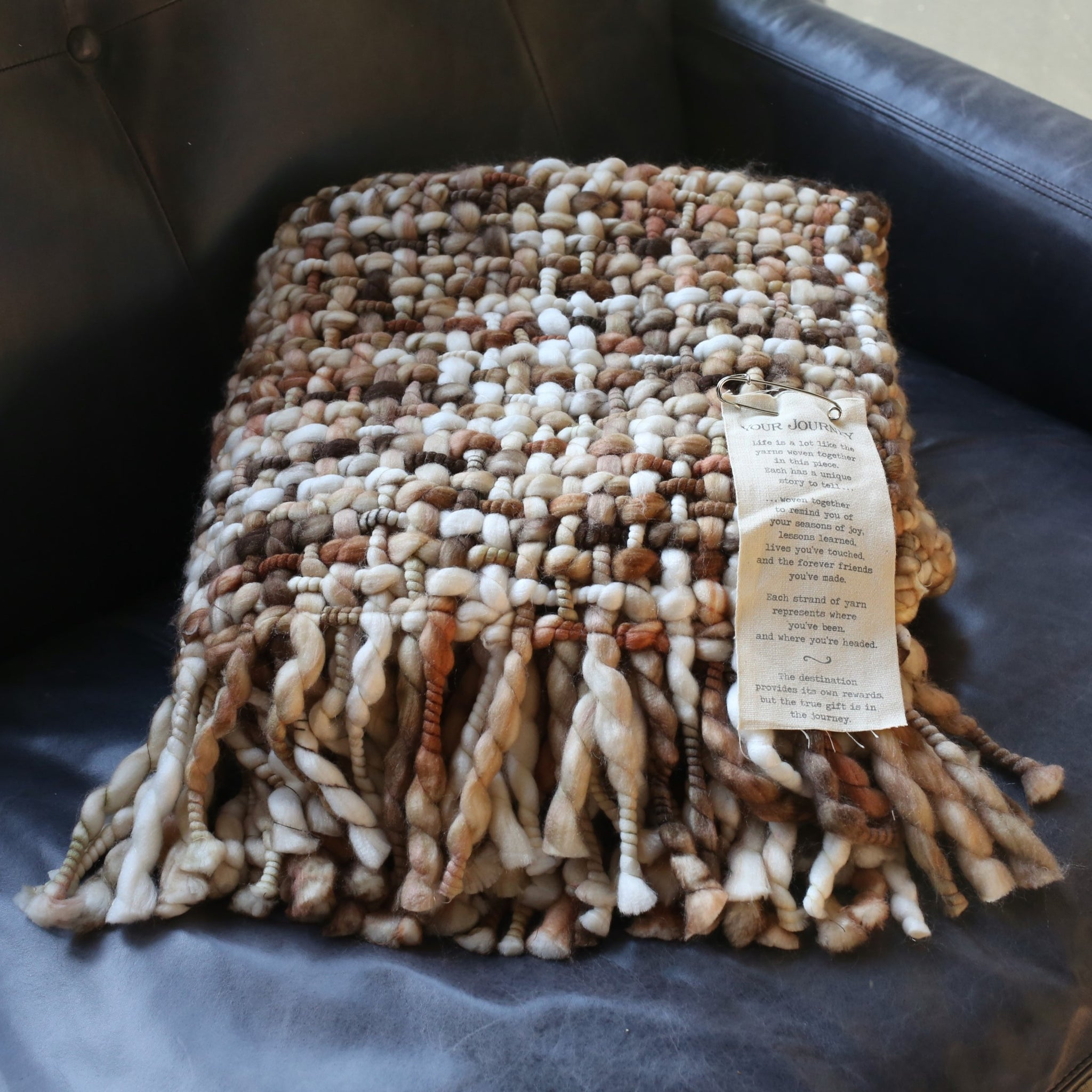 Tan Journey Throw Blanket
