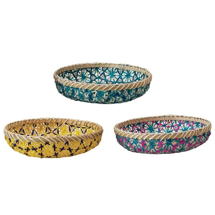 Woven Multi-Colored Trays