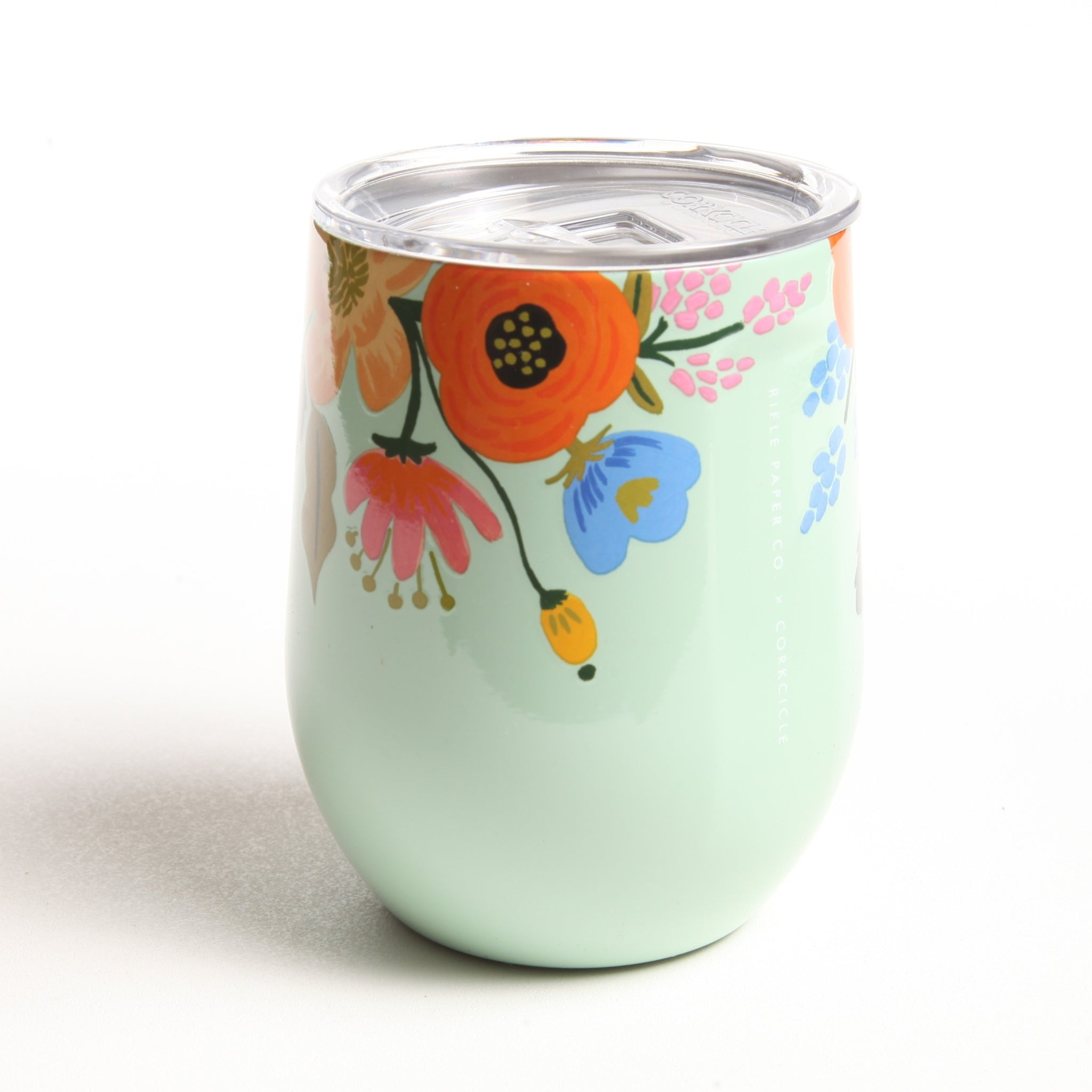 Mint Lively Floral Wine Tumbler