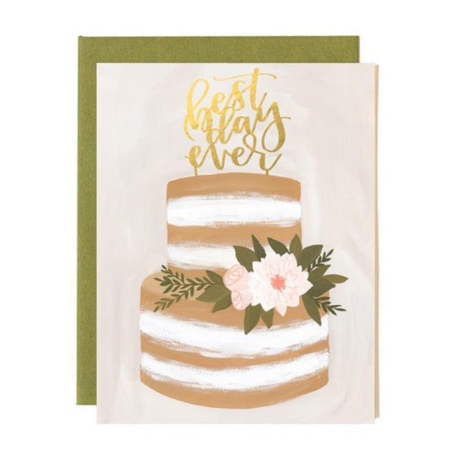 Cake Wedding Card