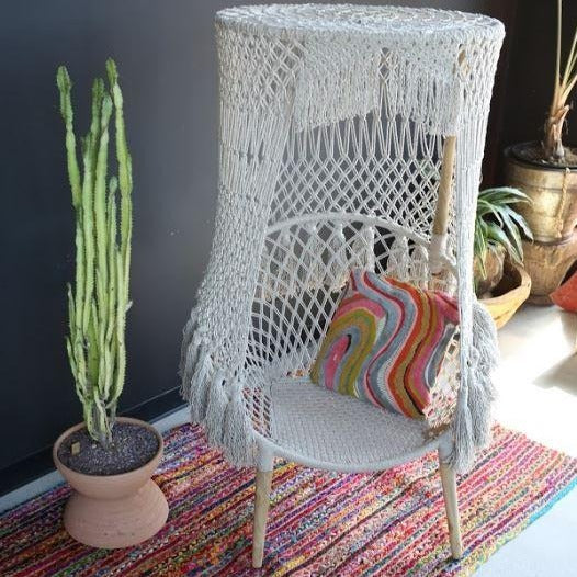 Cotton Ring Chair w/ Canopy