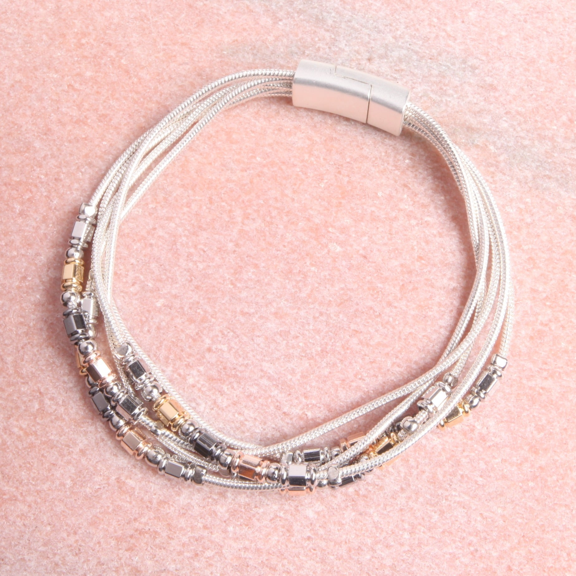 Mixed Metal Layered Bracelet