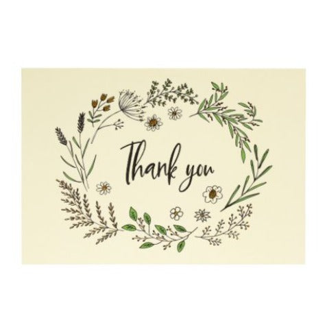 Botanicals Thank You Boxed Cards