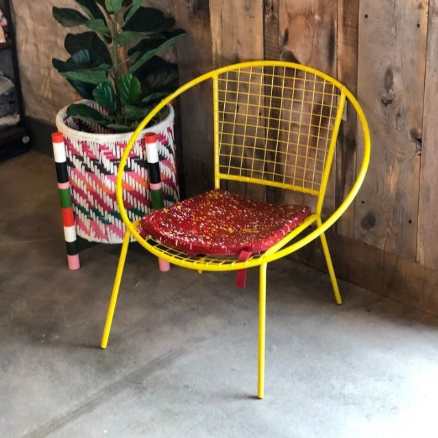 Round Splatter Iron Chair