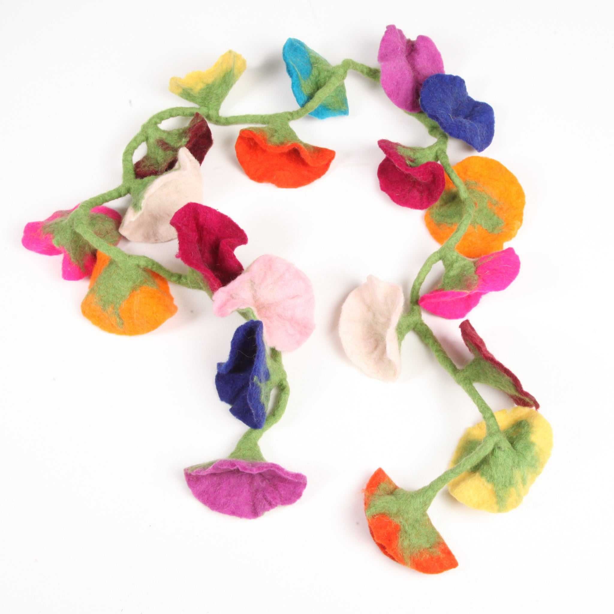 Flower Felted Wool Garland
