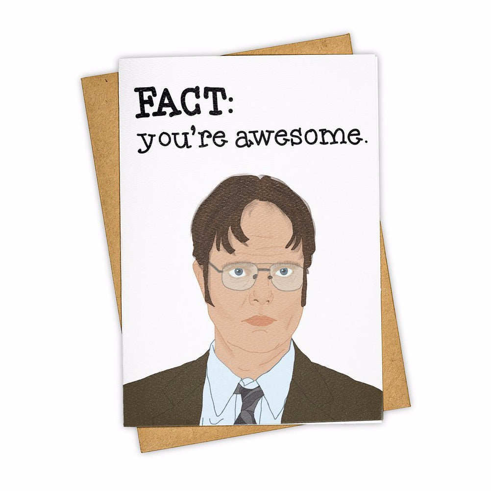 Fact: You're Awesome Blank Card