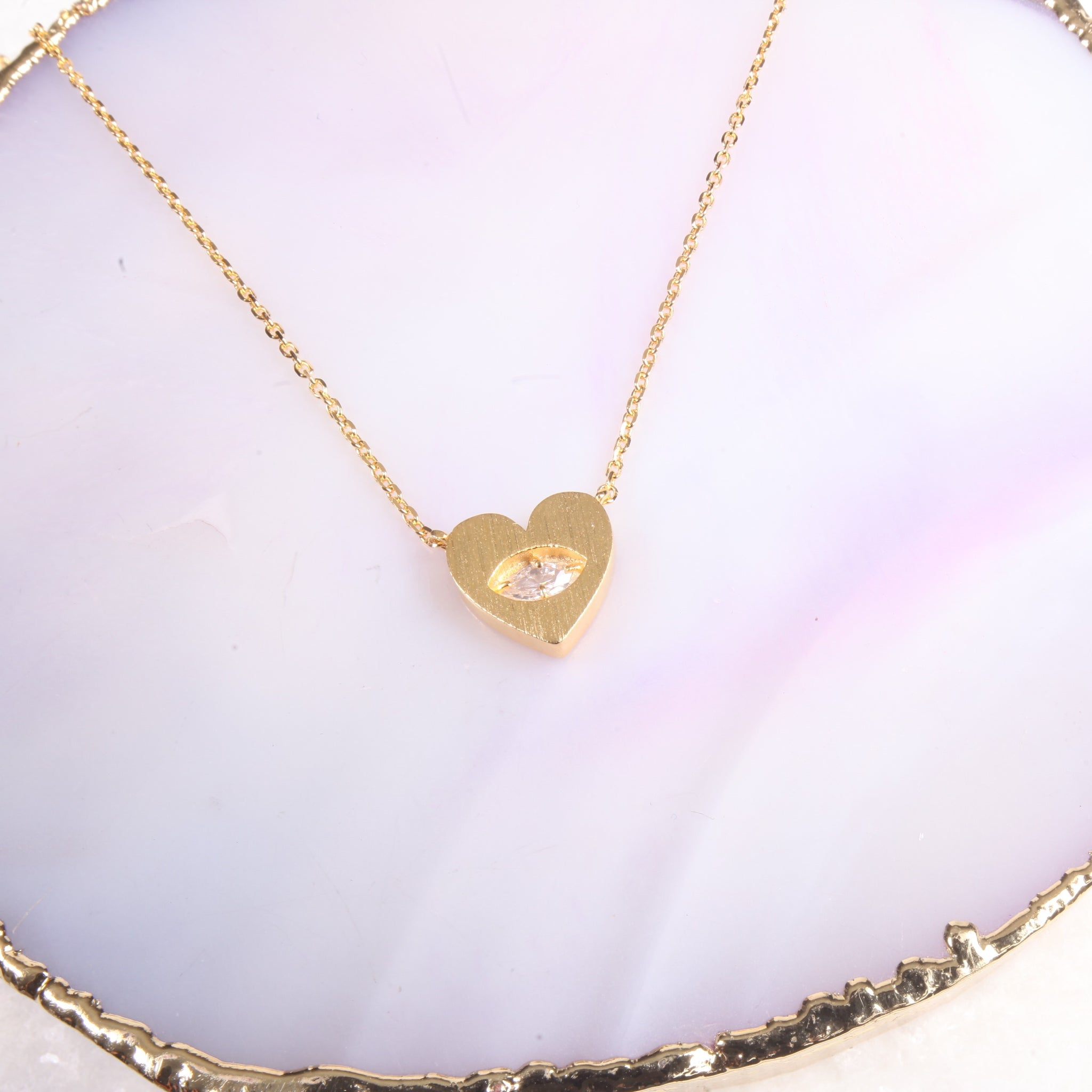 Mini Heart Charm Necklace