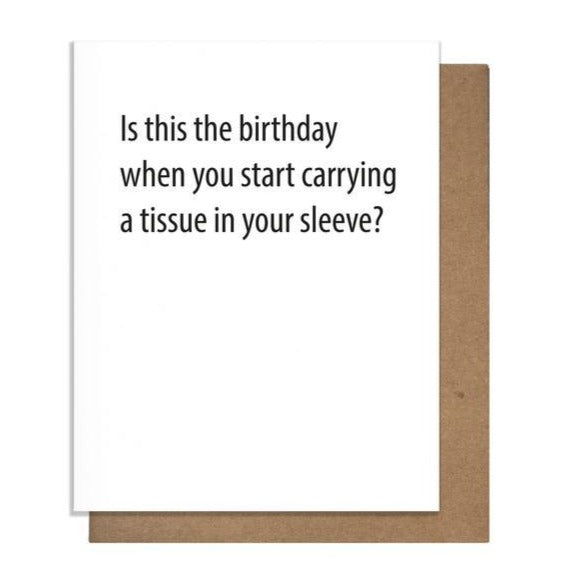 Tissue Sleeve Birthday Card