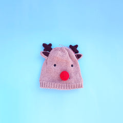 Baby winter hat  - deer design Free shipping