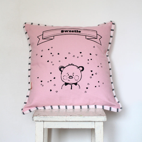 92.Nursery  decorative Pillow in Pink free shipping