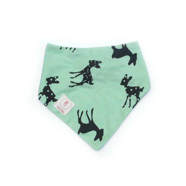 41 .Baby  bandana bib in mint and bambi print