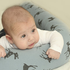 3.Baby bed bumper in Blue with bambi print