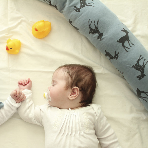 3.Baby bed bumper in Blue with bambi print Free Shipping