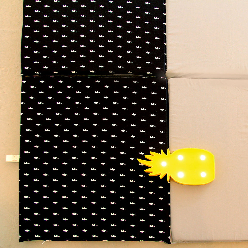 Baby Playmat-Free Shipping-in gray and lights pattern in black