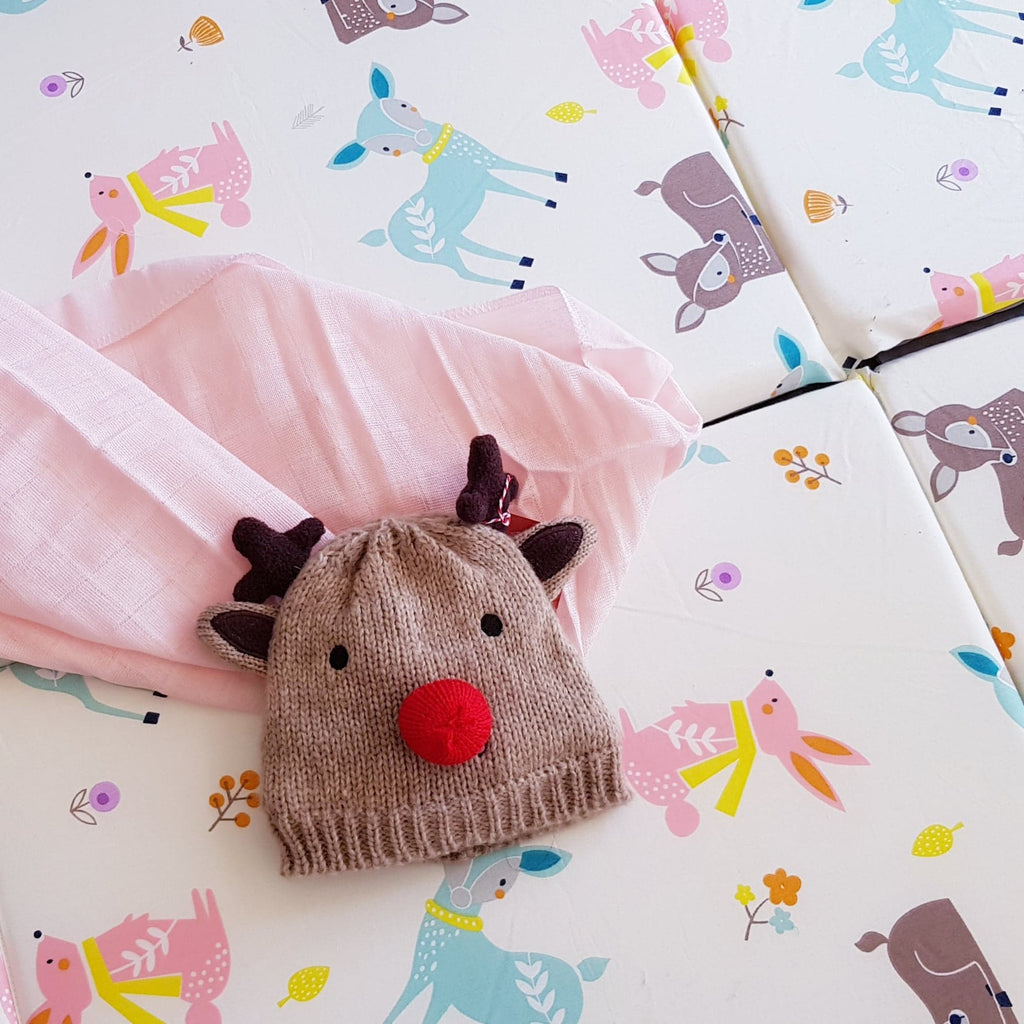 Baby Playmat-Free Shipping-in bambi and rabbits pattern