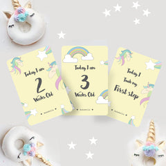 Baby Milestone cards / Monthly Growth / growth cards /baby gift/ unicorn