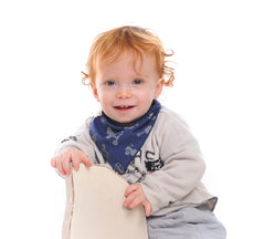 41.Baby cool bandana bib in navy blue