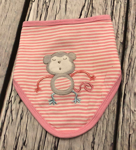 6 Months Monkey Dribble Bib