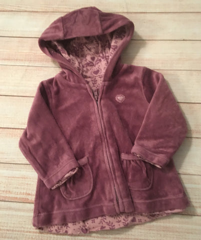 3-6 Months Velour Zipped Hoodie