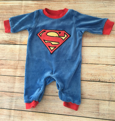 0-1 Months Superman Jumpsuit