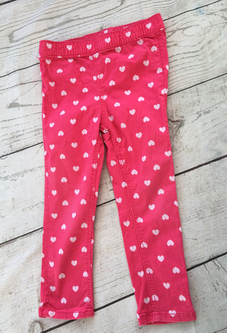 18-24 Months Heart Print Jeggings