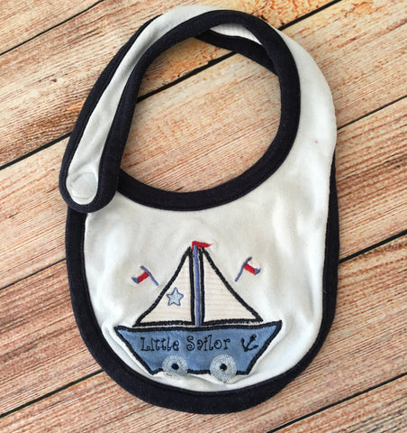 0-3 Months Little Sailor Bib