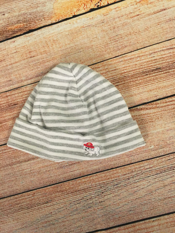 0-3 Months Striped Dog Hat