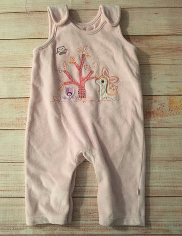 0-3 Months Velour Woodland Rompers