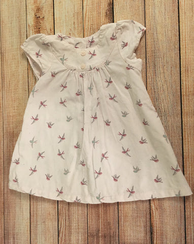 3-6 Months Needlecord Bird Print Dress