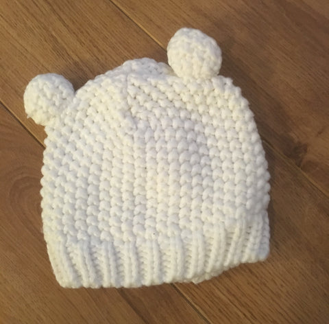 3-6 Months Cable Knit Hat