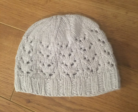 0-6 Months Grey Knitted Hat