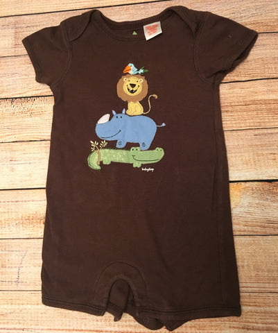 3-6 Months Zoo Animal Rompers
