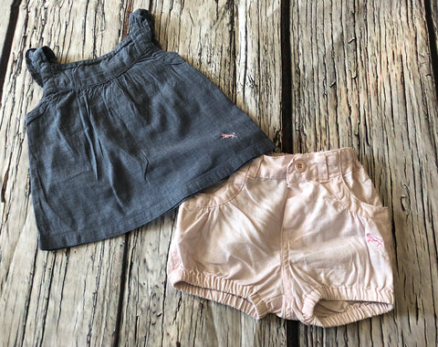 2-4 Months Summer Shorts Outfit