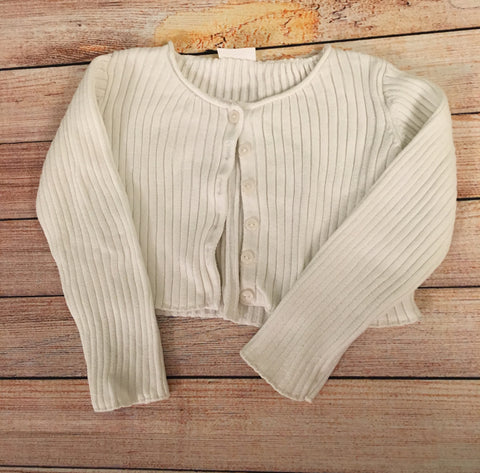9-12 Months Ribbed Cropped Cardigan