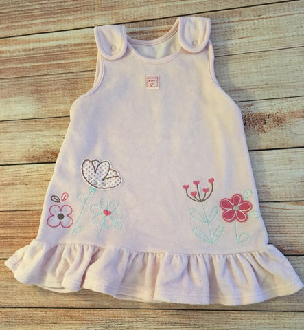 3-6 Months Velour Pinafore Dress