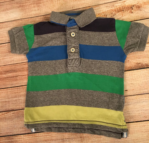 3-6 Months Striped Polo Shirt
