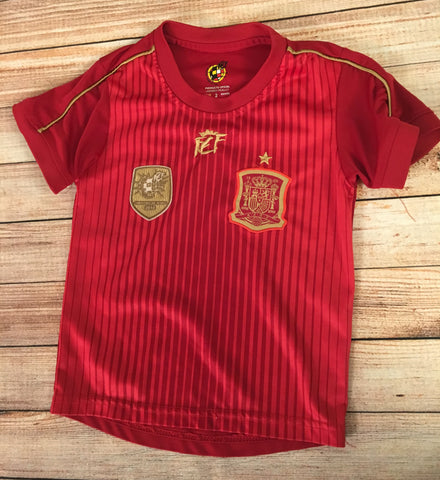 Age 2 Spain Football Tshirt