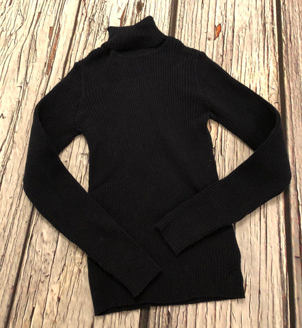 Age 9 Navy Ribbed Roll neck