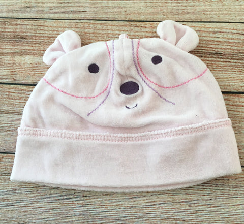 0-6 Months Velour Bear Hat