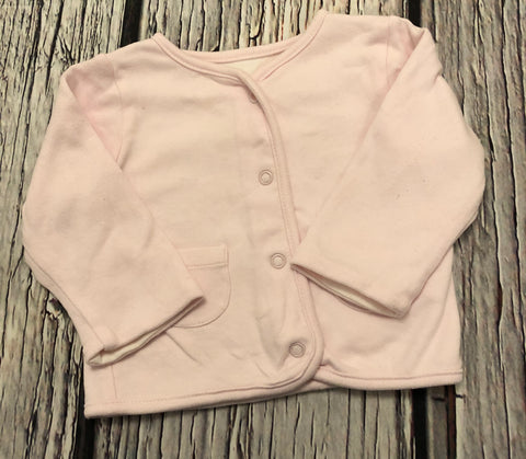 0-3 Months pink cotton cardigan