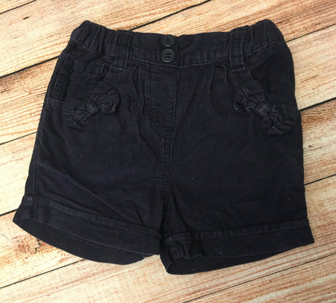 3-6 Months Needlecord Shorts