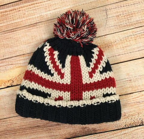 3-6 Months Union Jack Bobble Hat